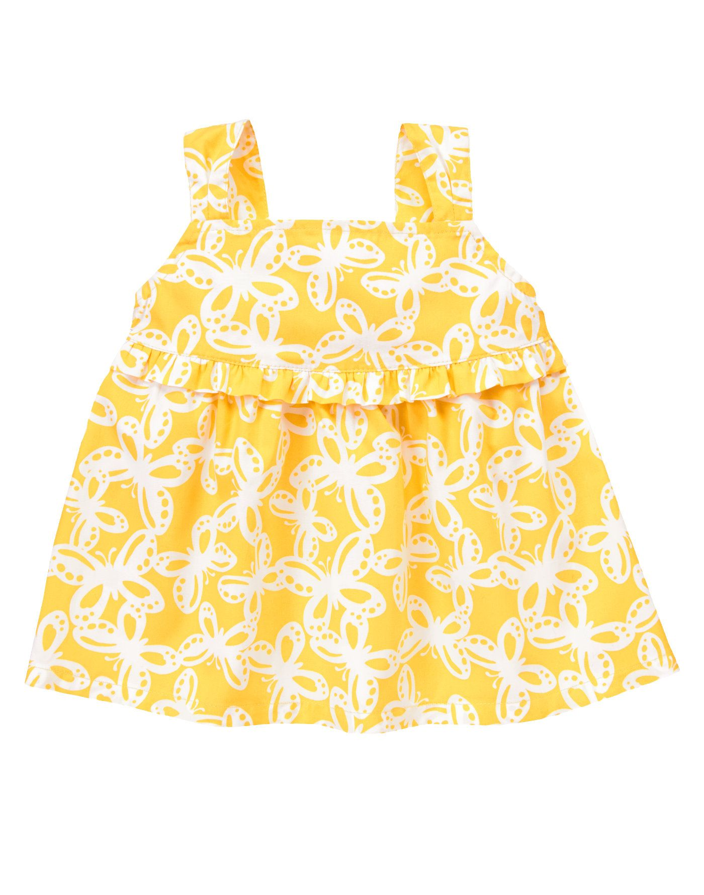 Gymboree Yellow /& Black Butterfly Print Yellow Romper Size 6-12 Mos /& UP NEW