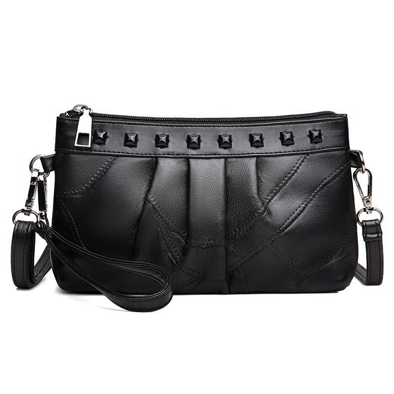 PASTE Genuine Leather PASTE Women s Handbag Fashion Luxury Shoulder Bags  Solid Zipper Women Messenger Bag Ladies Bag Bolsos sac 9712122730a05