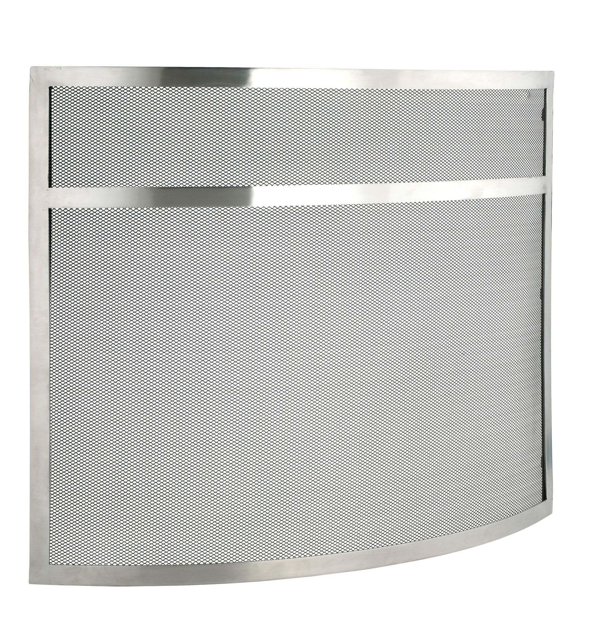 Slemcka Contemporary Metal Fire Screen (H)635mm (W)780mm (D)130mm ...