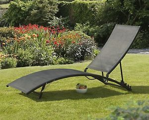 Sun Lounger Patio Armchair Garden Furniture Relax Chair Aluminum