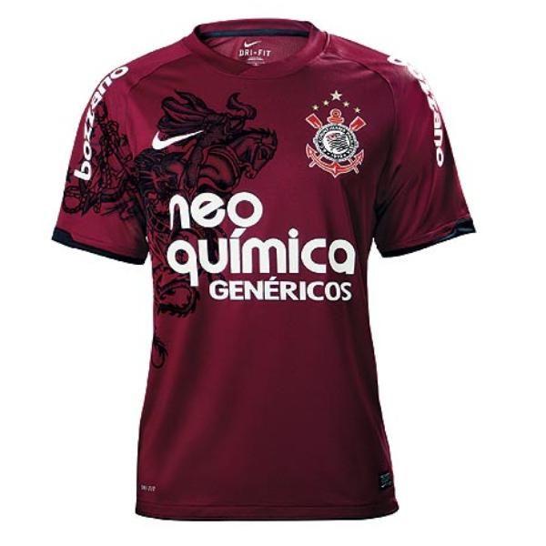 226367eef2 Fornecedor apresenta oficialmente nova camisa 3 do Corinthians ...