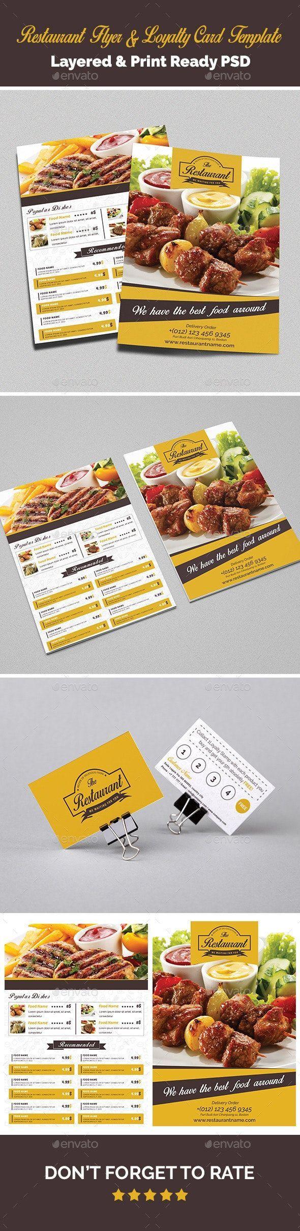 Vorlage Fur Restaurant Flyer Und Kundenkarten Ad Amp Aff Flyer Restaurant T Logo Templates Design Aff Amp Design Flyer Sandwich Restaurant