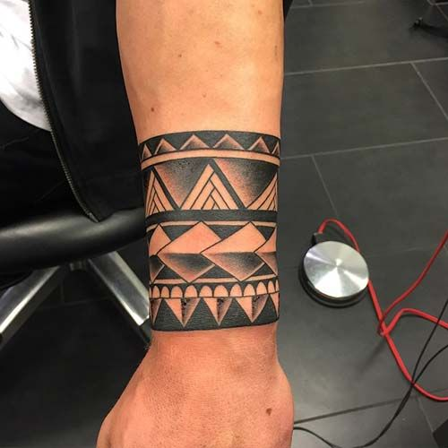 wristband tattoo bilek bandı dövmesi | Kol Bandı Dövmeleri ...