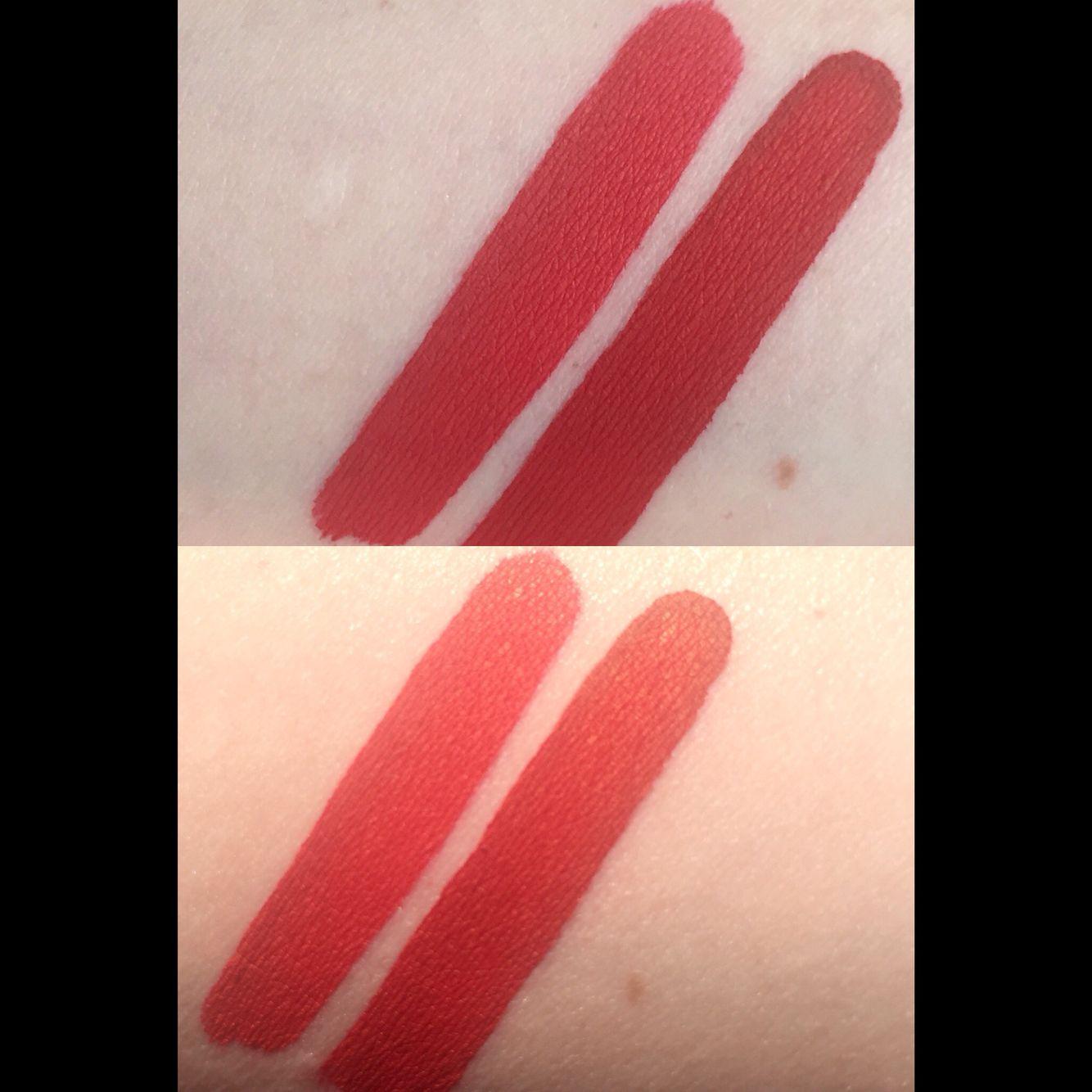 Kat Von D Everlasting Liquid Lipsticks in Santa Sangre (left ...