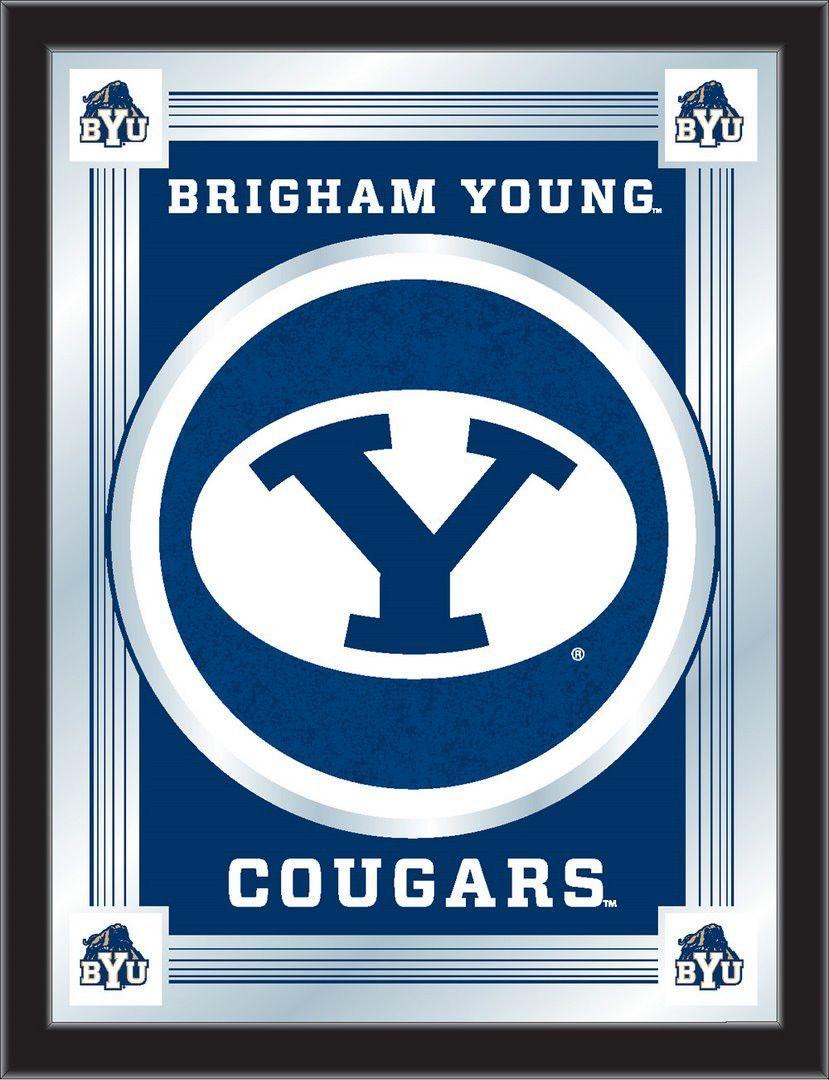 Logo Mirror Brigham Young University Logo Wall Byu Byu Cougars