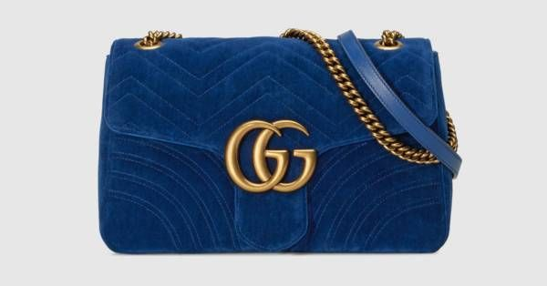 1e033d0be08 Gucci GG Marmont medium velvet shoulder bag
