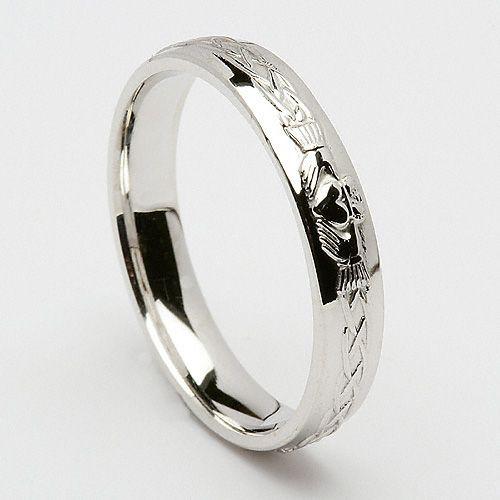 Engraved Claddagh Wedding Ring Claddagh Ring Wedding Claddagh Wedding Wedding Rings