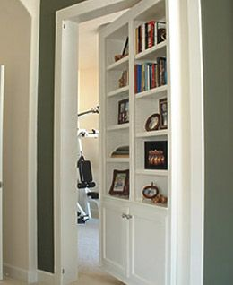 Concealed Door Fake Bookshelf Very Simple Yet Amazing Clever Solution Home Hidden Rooms Home Decor