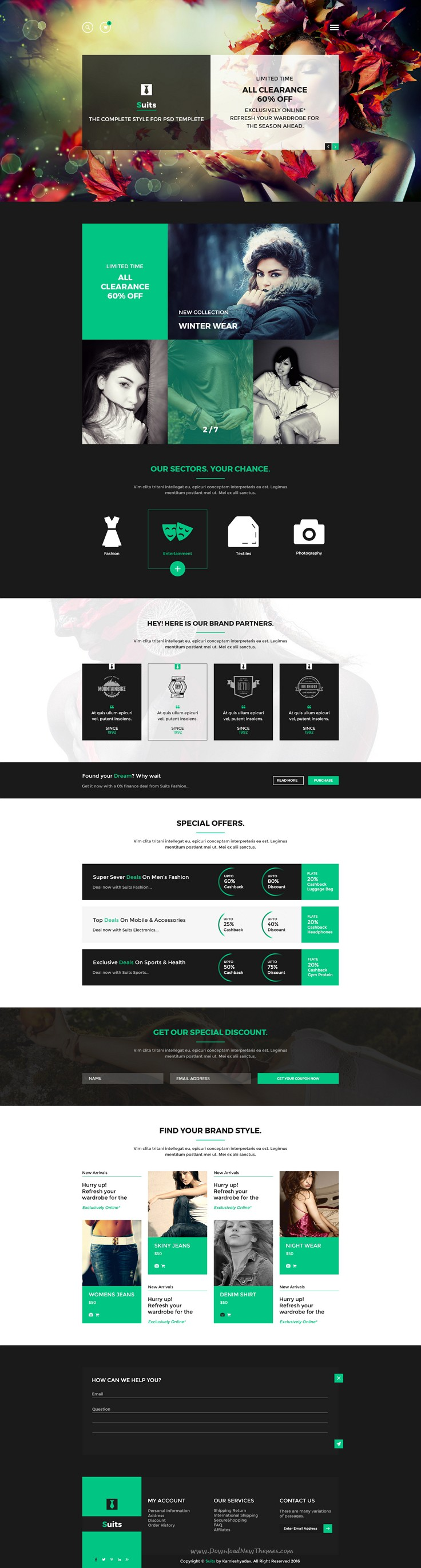 Suits - Business Portfolio Psd Template | Psd templates, eCommerce ...