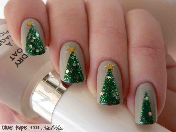 Easy Christmas Tree Nail Art Design Tutorial Alldaychic Christmas Nails Easy Christmas Tree Nail Art Tree Nail Art