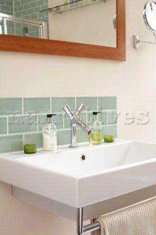 Basin splashback google search bathroom design ideas for Sink splashback ideas