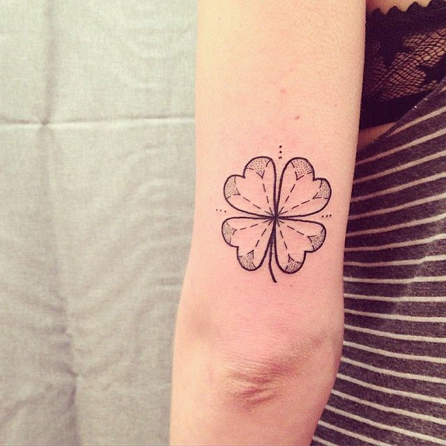 45 Cute Four Leaf Clover Tattoo Ideas And Designs Lucky Plant