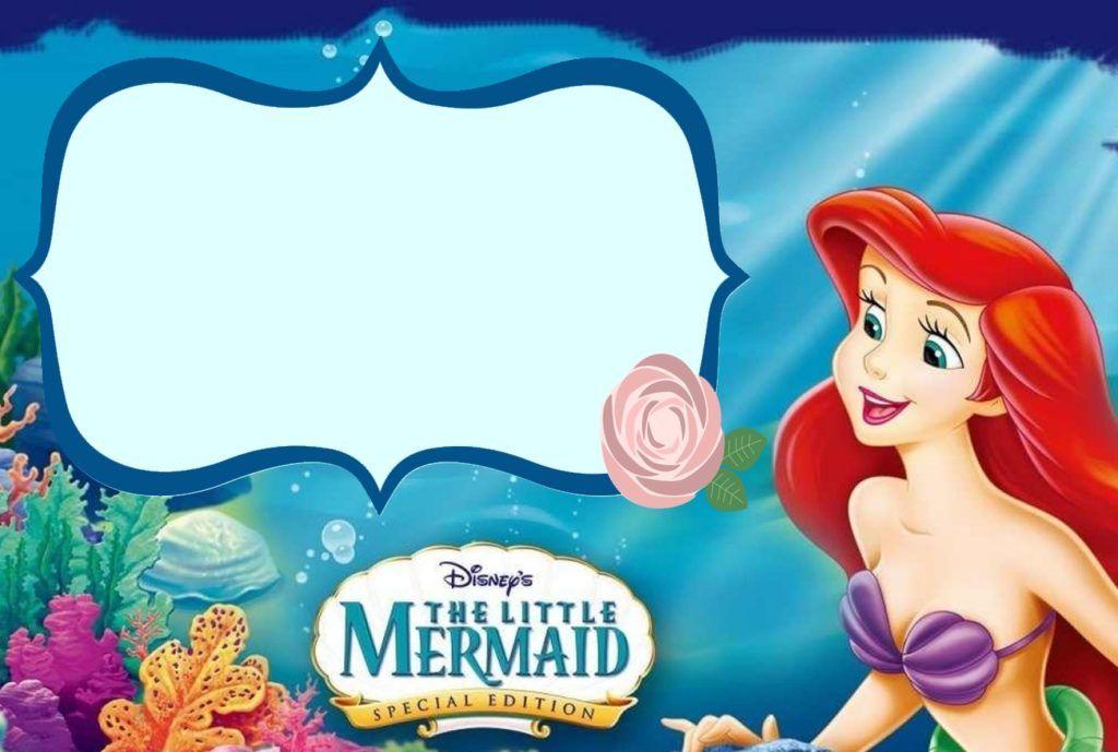 the little mermaid invitation template freinds pinterest