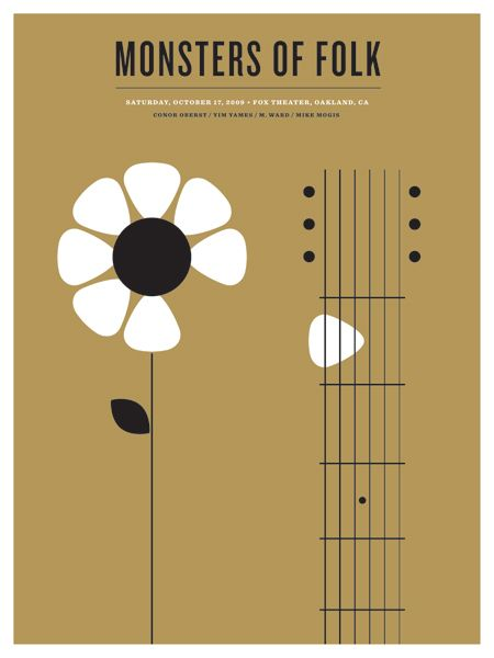 monsters of folk music gig posters | ... limited-edition concert posters by The Small Stakes(via OMG Posters