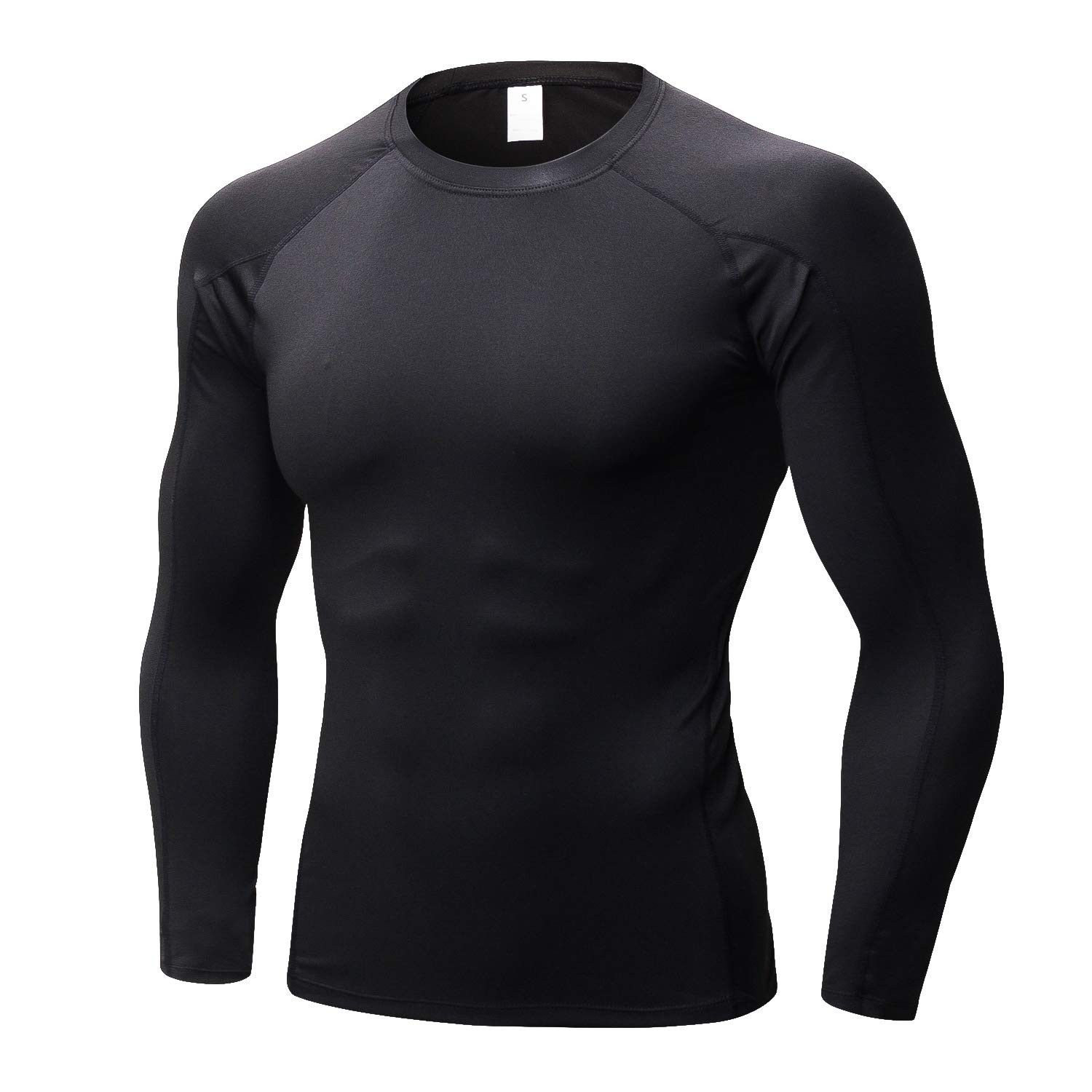 Mens Fitness Compression Cycling Base Layer Slim Tight Shirts Gym Tops Cool Dry