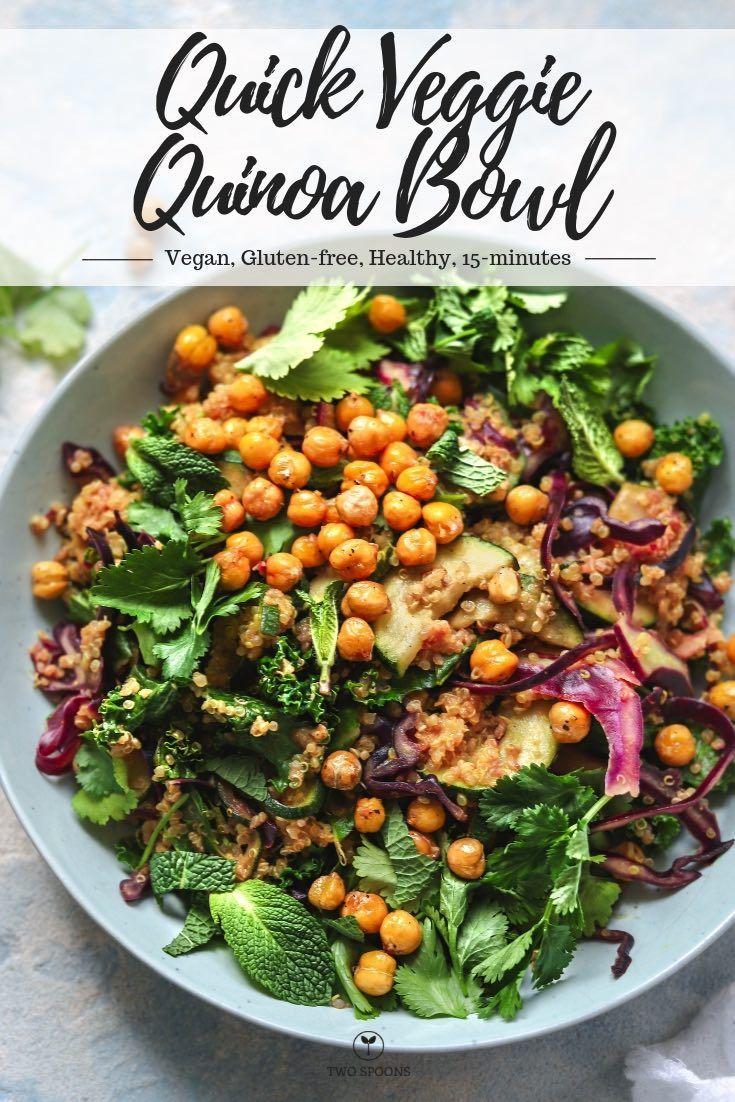 Quick Veggie Quinoa Bowl