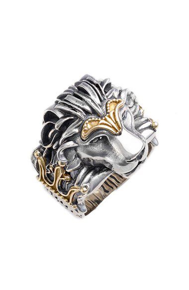 Konstantino Konstantino Carved Lion Ring available at #Nordstrom