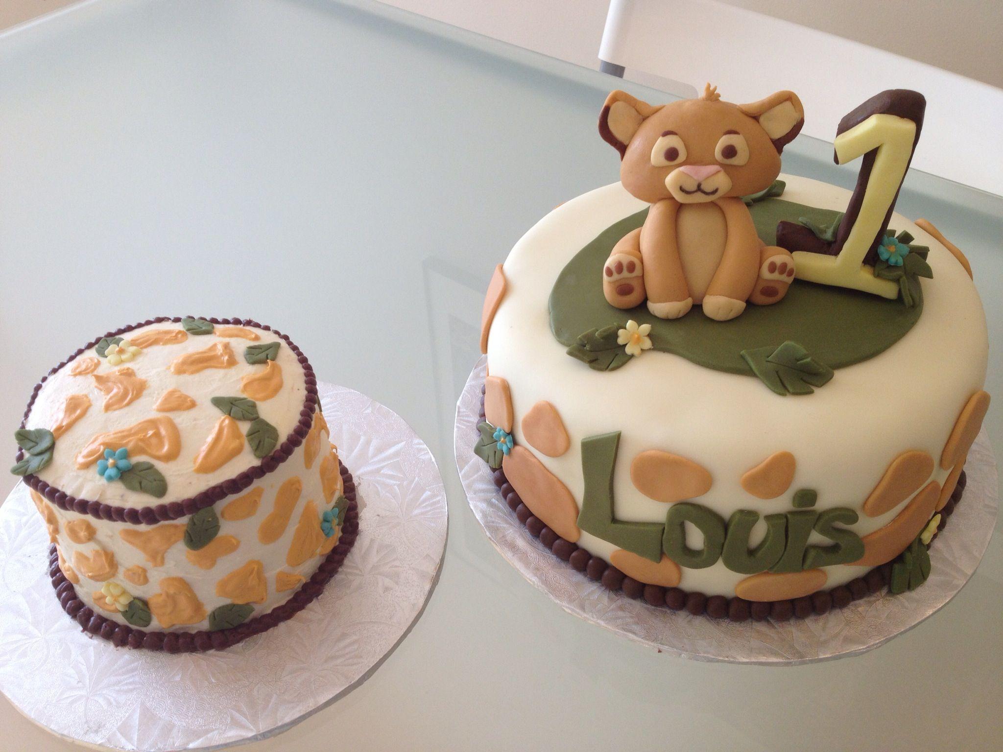 Baby Lion King Cake and smash cake Baby Shower Pinterest Lion