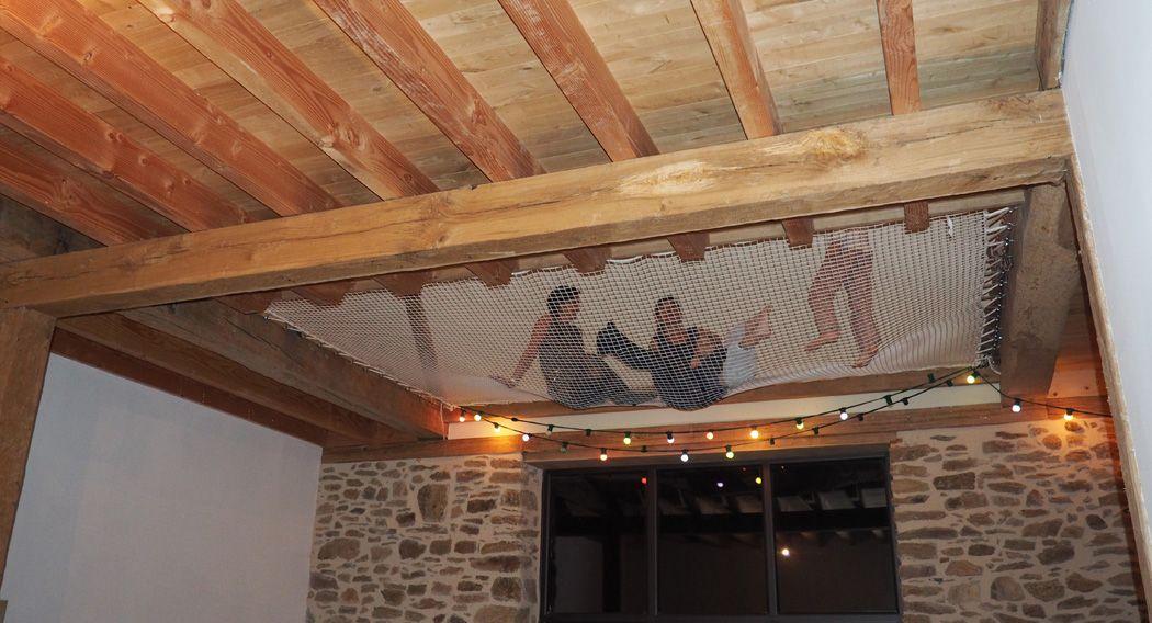 pin by france trampoline on filet pour habitation. Black Bedroom Furniture Sets. Home Design Ideas