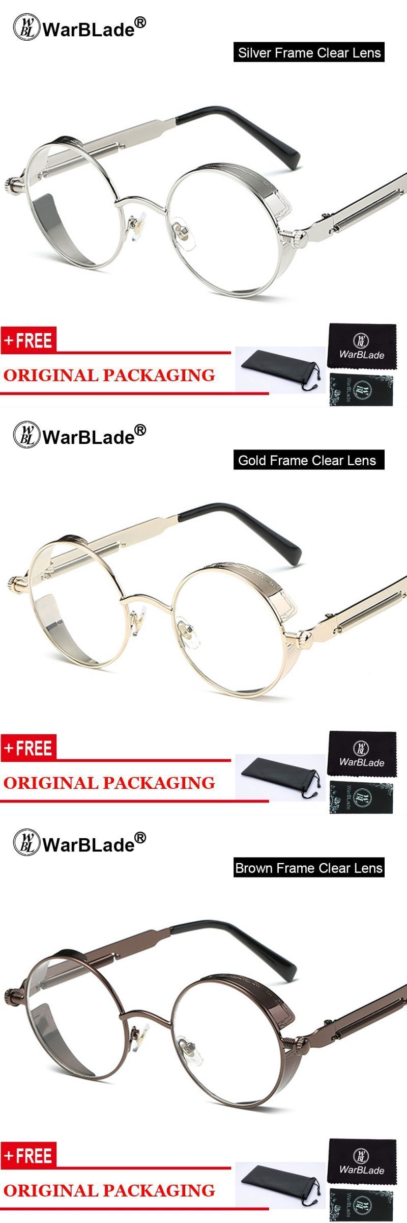 d87bb053a79 Clear fashion gold round frames eyeglasses for women vintage steampunk  round glasses frames for men male nerd metal  copper  women  solid  eyewear  ...