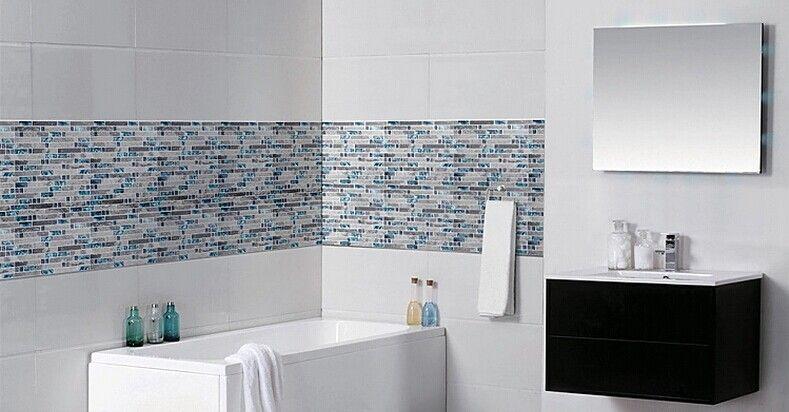 discount grey stone blue glass tiles wave marble striped art mosaics bar hotel decor kitchen backsplash