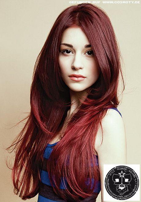 Frisuren Lange Haare Gestuft Haare Pinterest Redheads Red