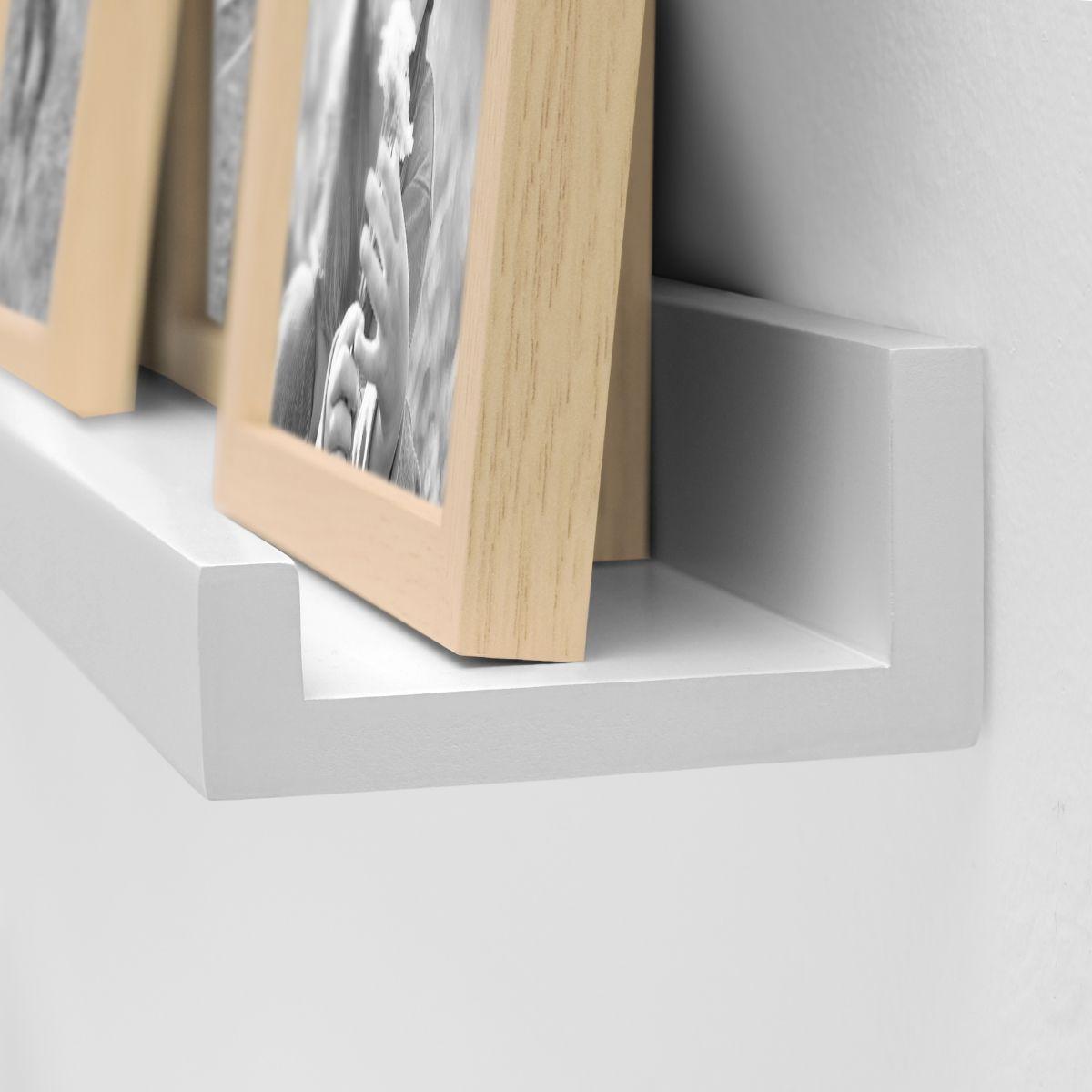 2er Set Bilderleiste Weiss 70 Cm Aus Mdf Inkl Montagematerial