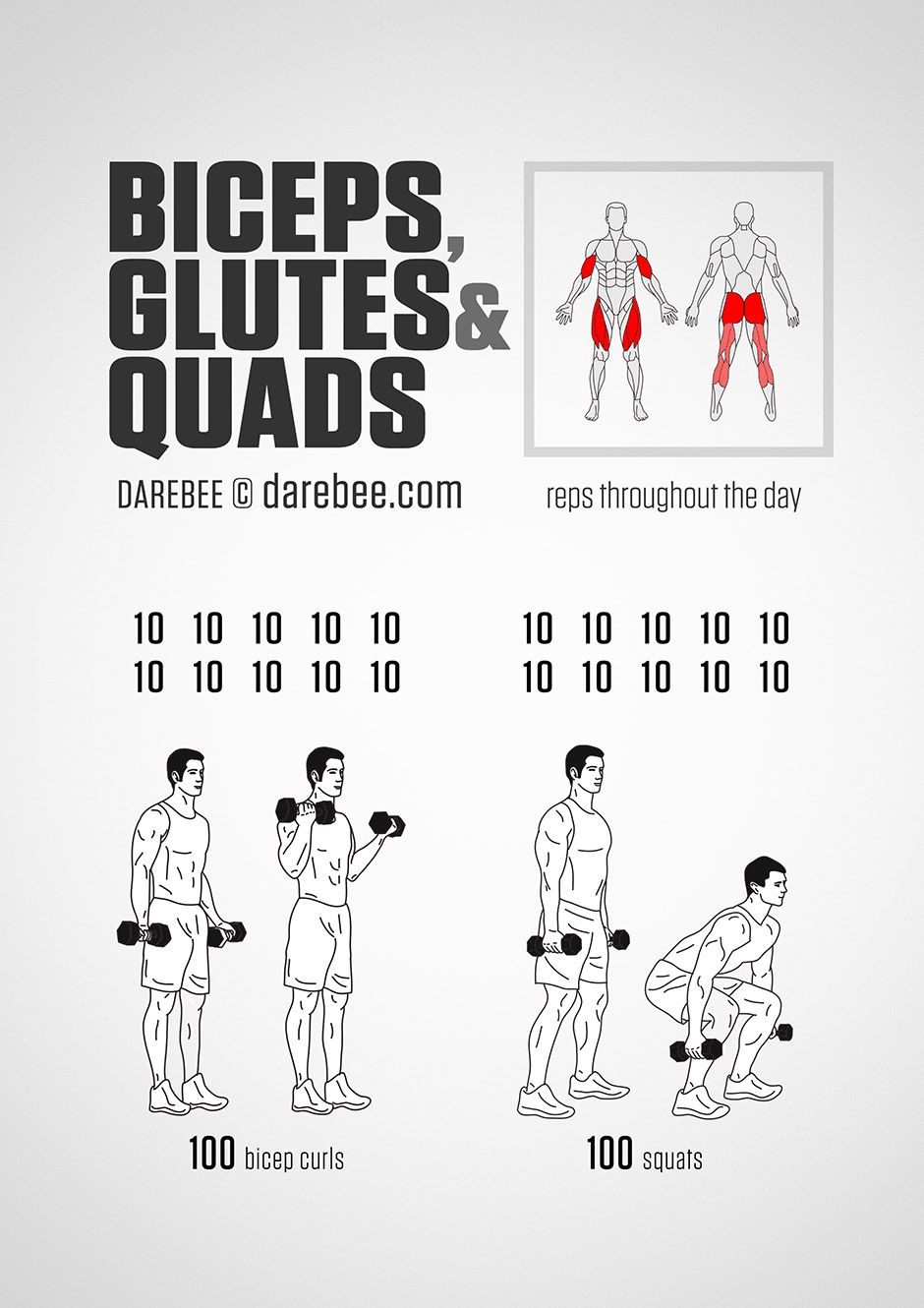Biceps Glutes And Quads Workout Sexy Looking Bodies