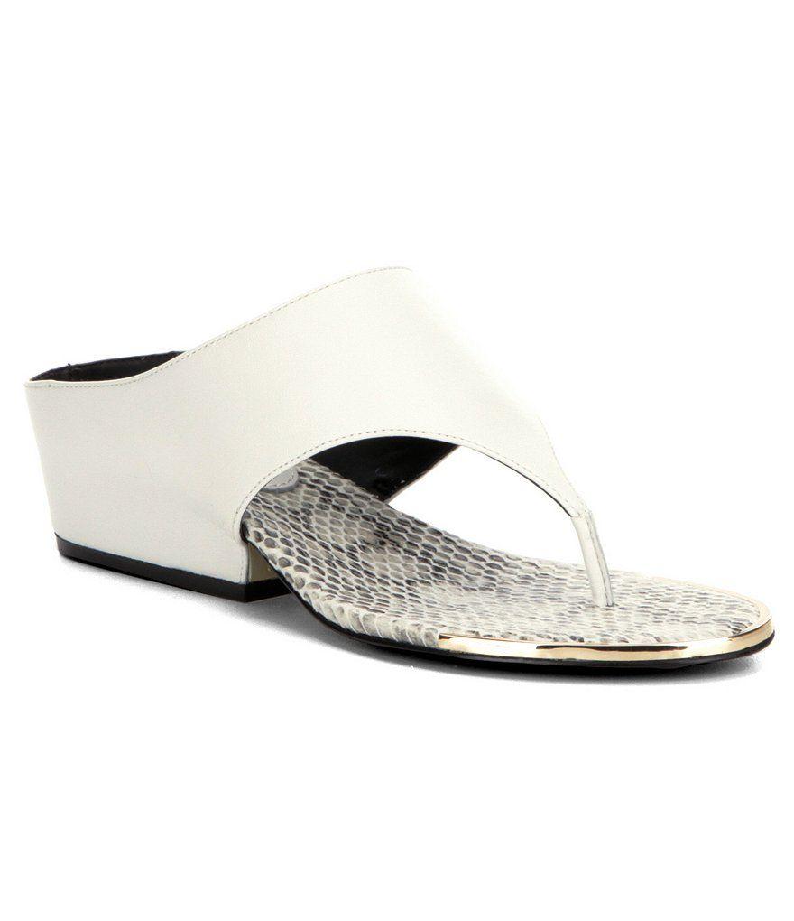 Platinum White:Calvin Klein Ciara Thong Slides