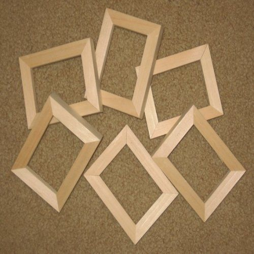 Unfinished Wood Picture Frames In Lots Of 6 In 58 Wide Moulding