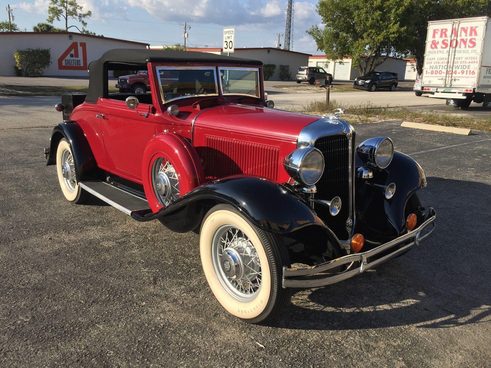 1932 Chrysler CI-6 Convertible | Convertible, Motor car and Cars