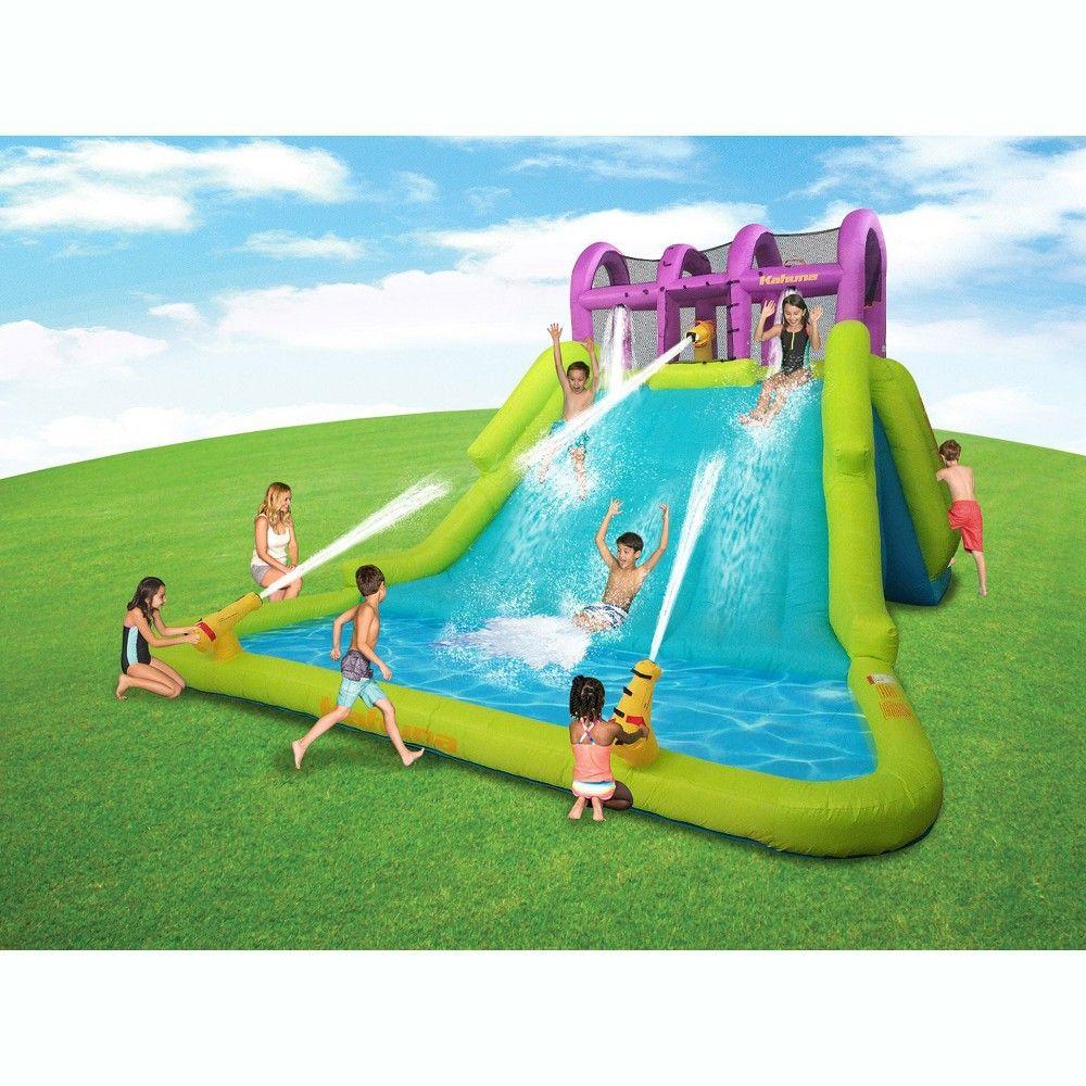 Kahuna 90808 Mega Blast Inflatable Backyard Kids Pool And Slide