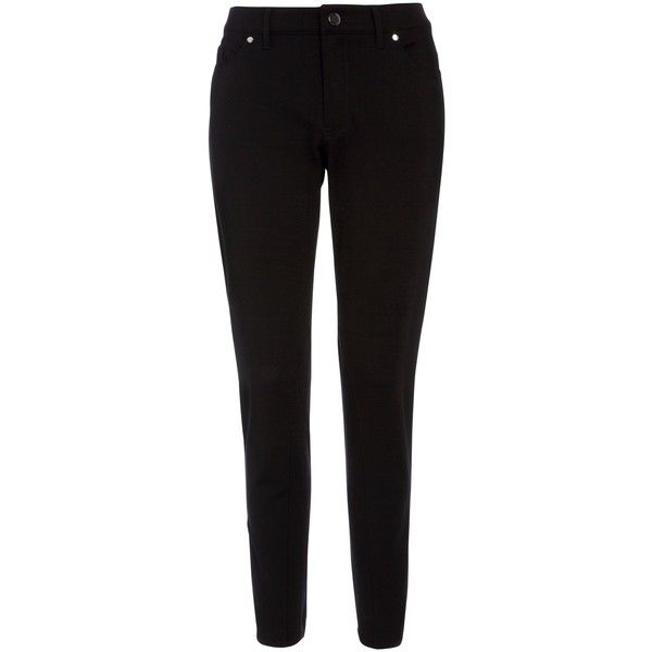 BOSS Alyna Slim Trousers, Black found on Polyvore