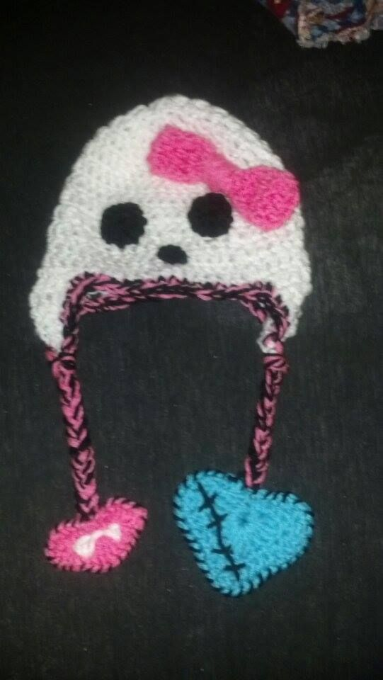 Monster High Crochet Hat Yarn Creations Pinterest Monster High
