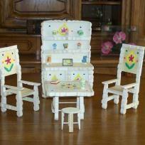 Salle A Manger Complete Miniature Pince A Linge Epingle A Linge Craft