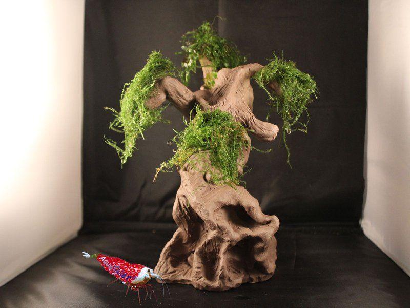 Aquarium Mammutbaum aus Ton Deko Moos Höhle Versteck Garnelen - deko fur aquarium selber machen