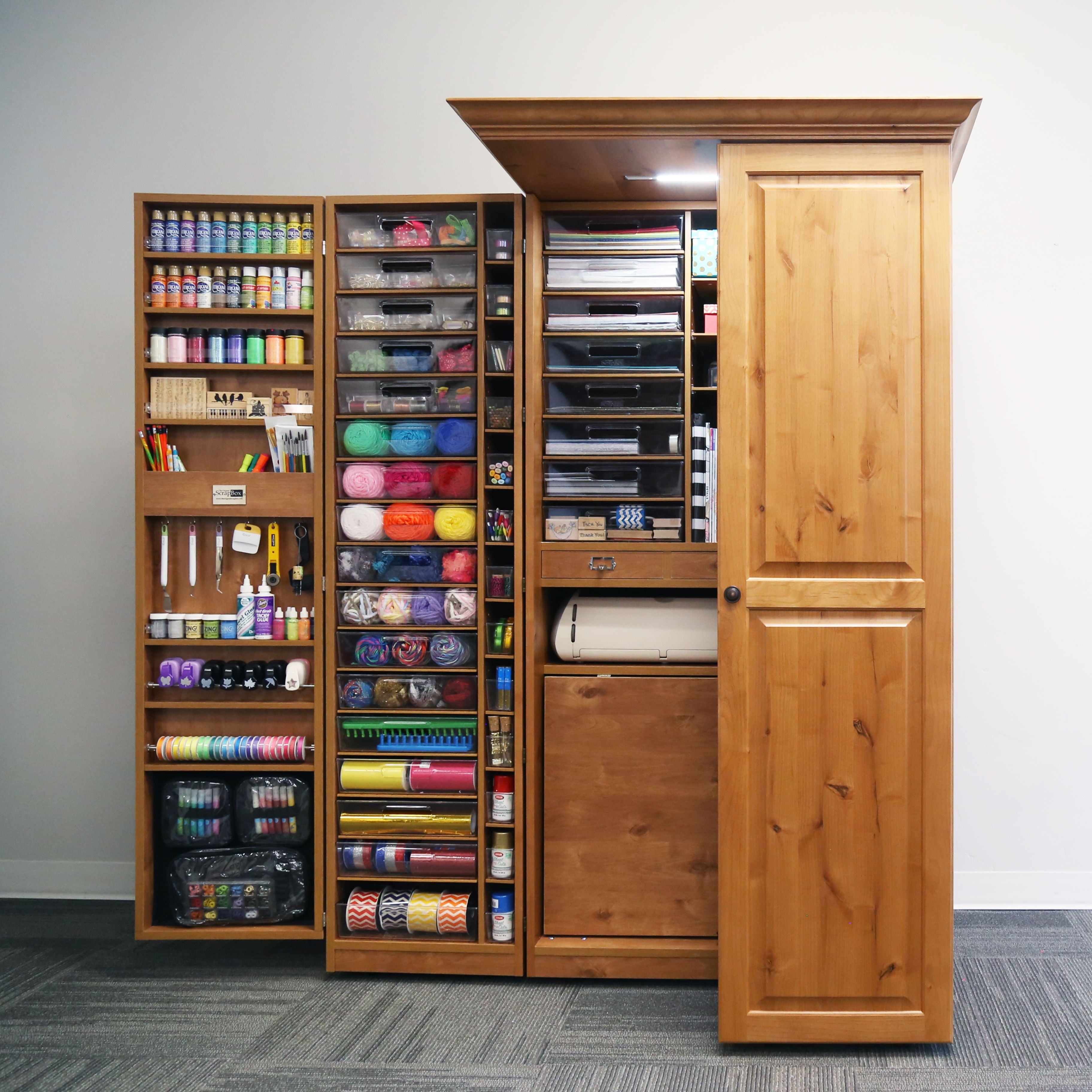 Fold Away Crafting Station The Workbox Craft Storage Cabinets