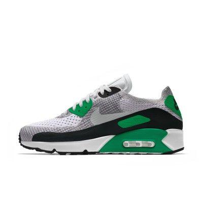 6633e79ba8e7 UK Cheap Nike Air Max 90 Womens Ultra 2.0 Flyknit Green White Grey Black