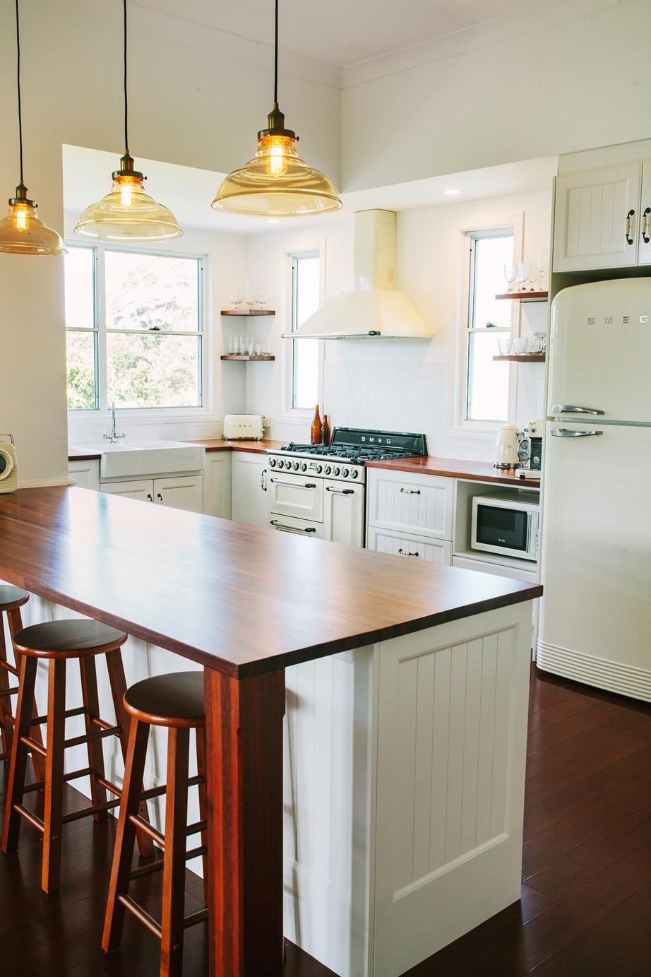 a queenslander style home with a retro modern interior modern kitchen design budget kitchen on kitchen interior queenslander id=34757