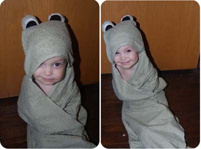DIY Hooded Baby Bath Towel Pattern