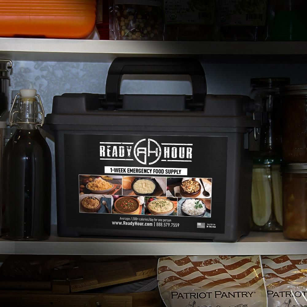 1week food supply ammo can 2000 caloriesday food