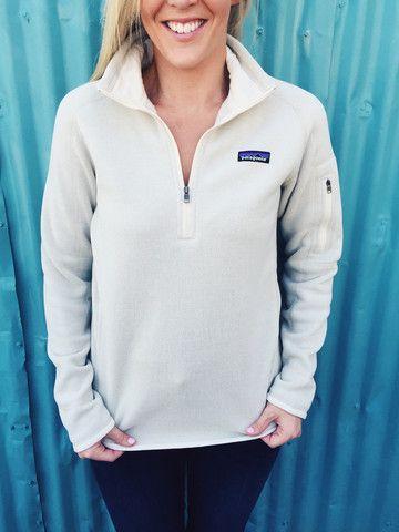 Patagonia Womens Better Sweater 14 Zip Fleece Raw Linen Falling