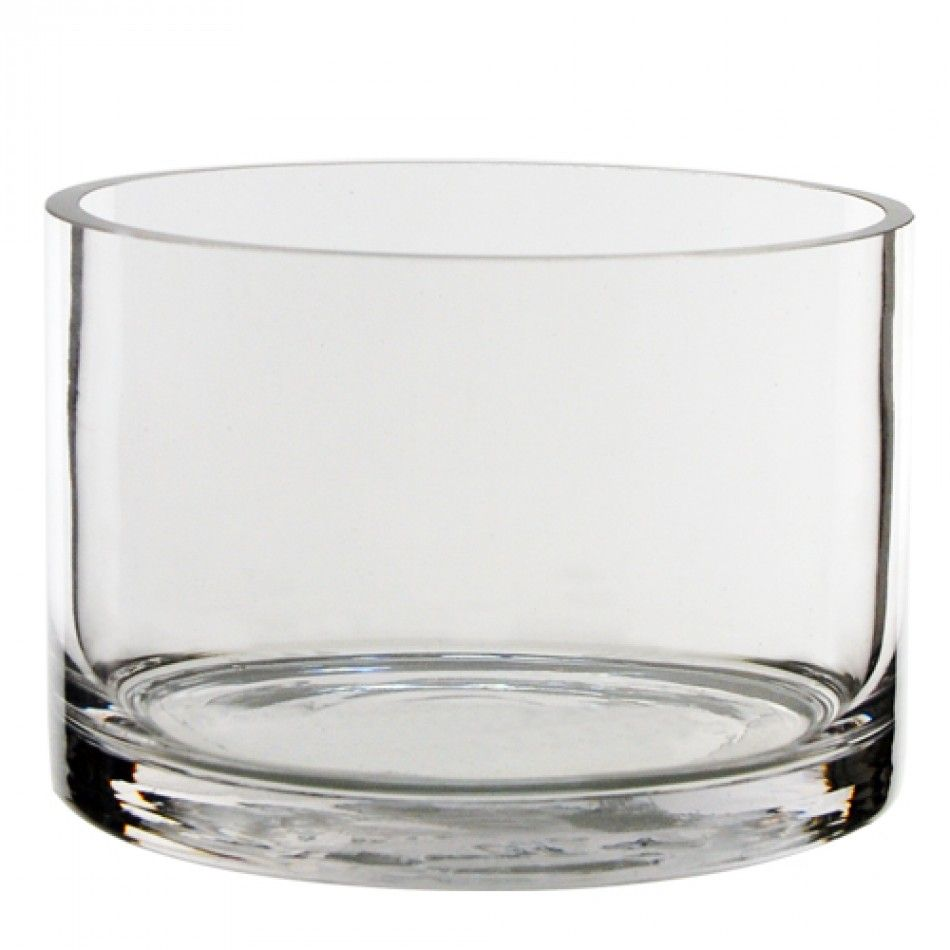 5 D x 3 H Clear Cylinder Glass Vase (Case Of 36 = $4.80/vase) [12018 ...