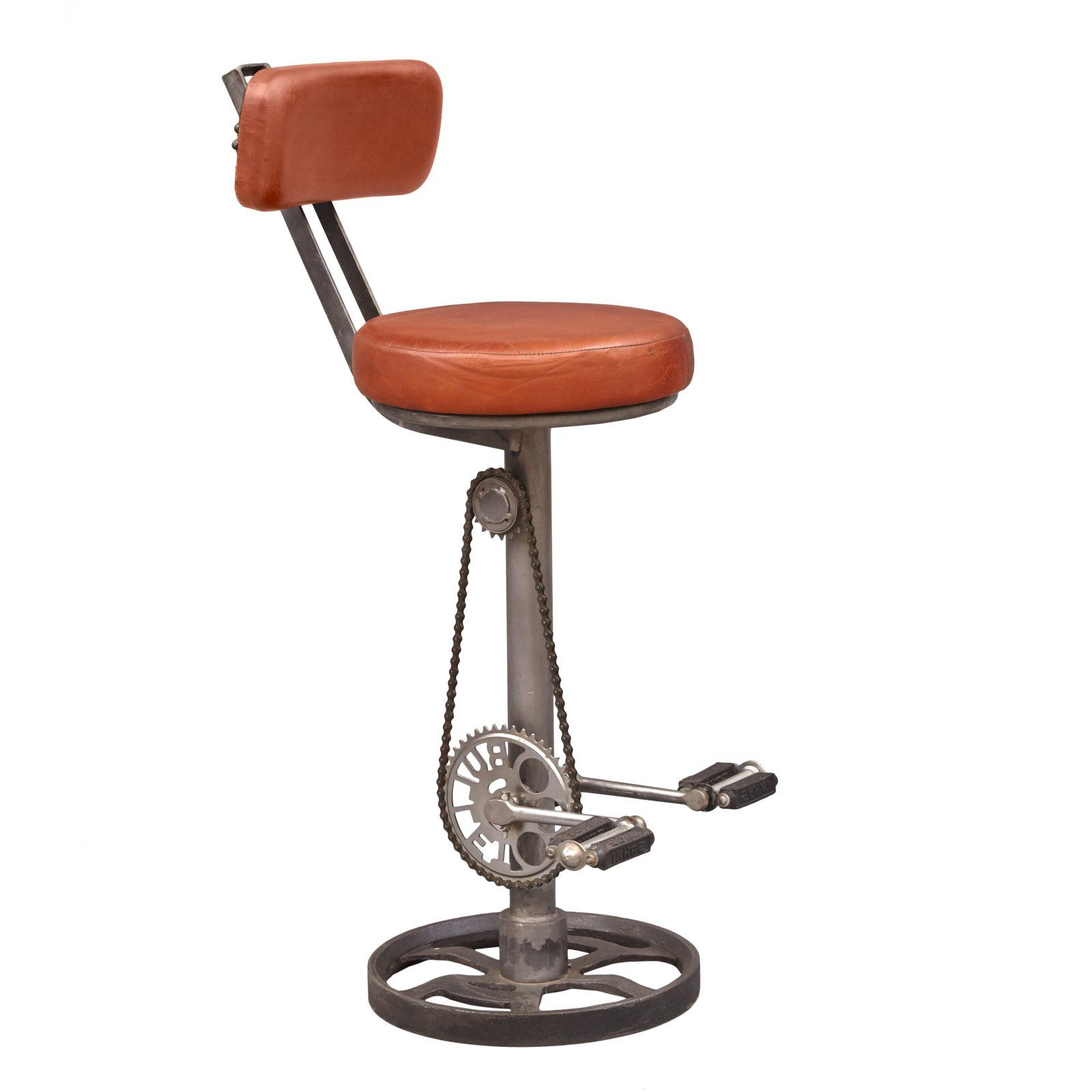 Admirable Right2Home Kent Adjustable Leather Bar Stool With Bicycle Alphanode Cool Chair Designs And Ideas Alphanodeonline