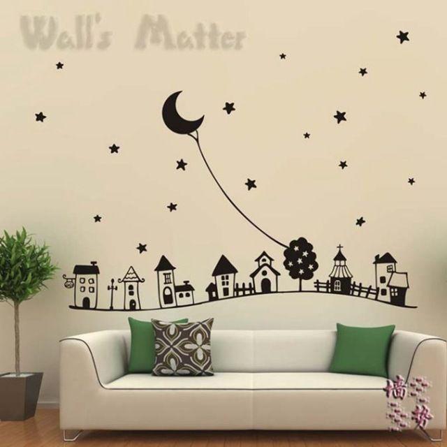 Habitación de los niños decoración de la pared de estilo europeo