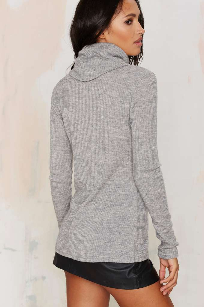 Glamorous No Chill Ribbed Turtleneck Sweater - Clothes | Pullover