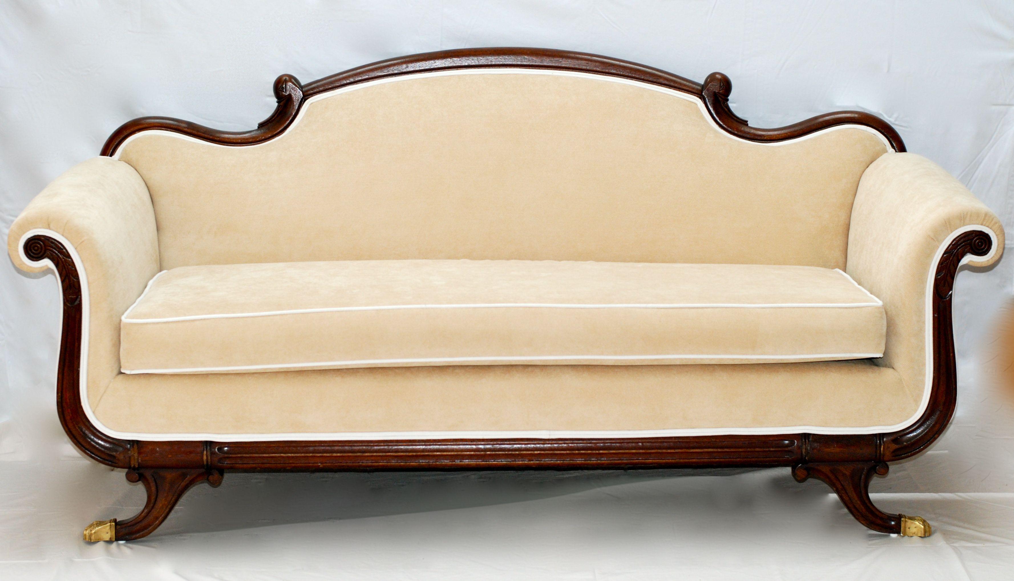 Reupholstered duncan phyfe sofa duncan phyfe pinterest duncan phyfe and upholstery Reupholster loveseat