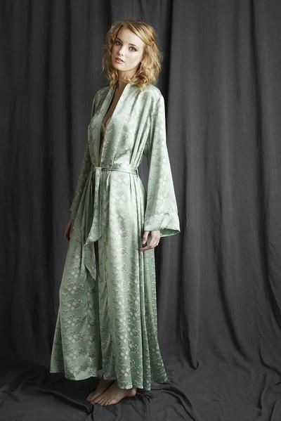 af783805e8 Full length silk dressing gown