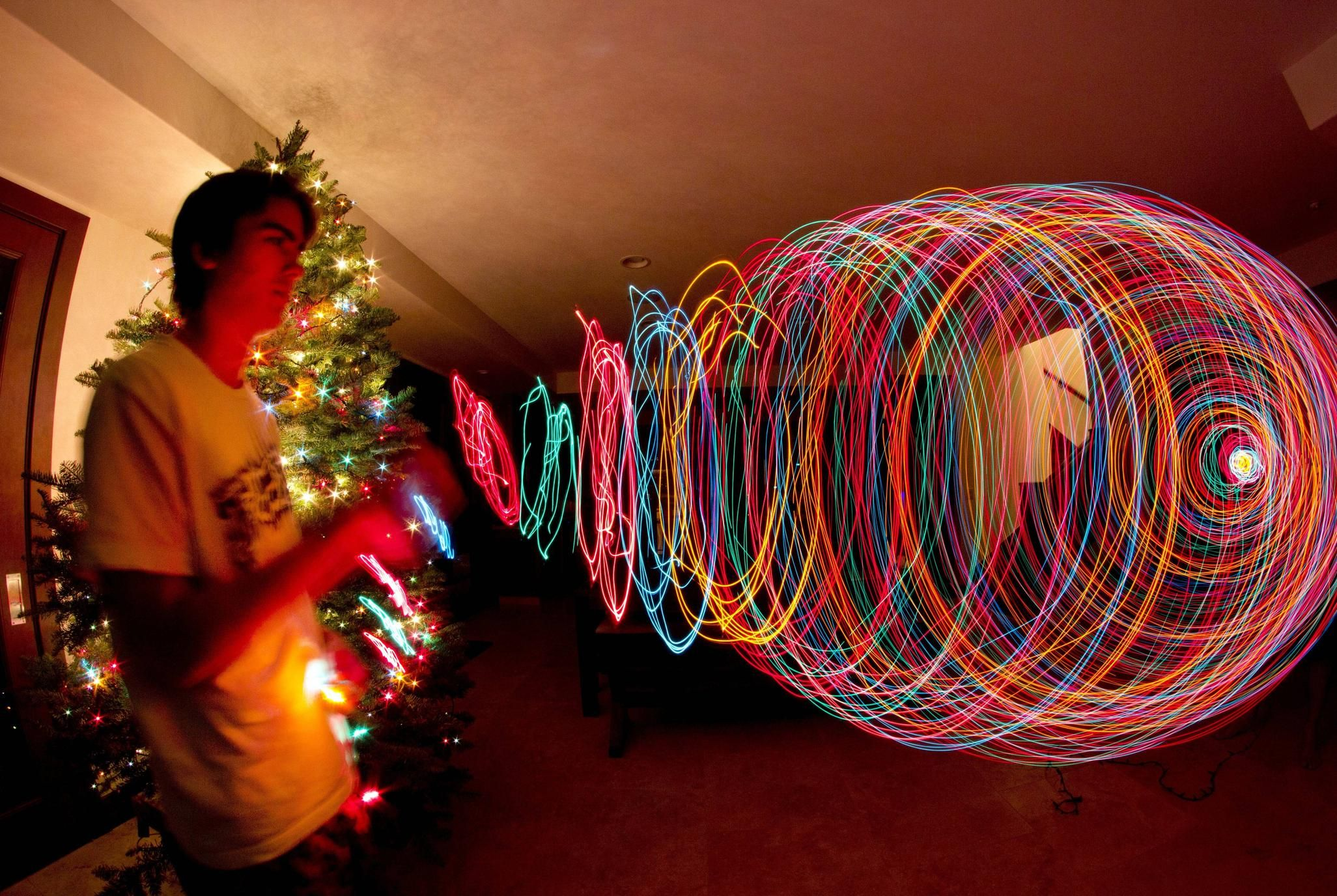 Looks awesome while playing some christmas light jump rope i while playing some christmas light jump rope i decided to take a long exposure photo imgur aloadofball Image collections