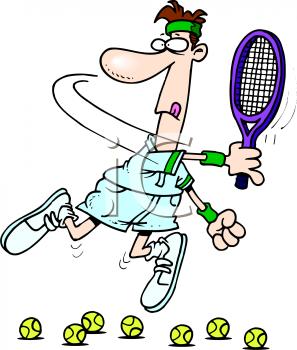 Cartoon Of A Bad Tennis Player Royalty Free Clipart Image Family Fun Games Cartoon Cartoon People